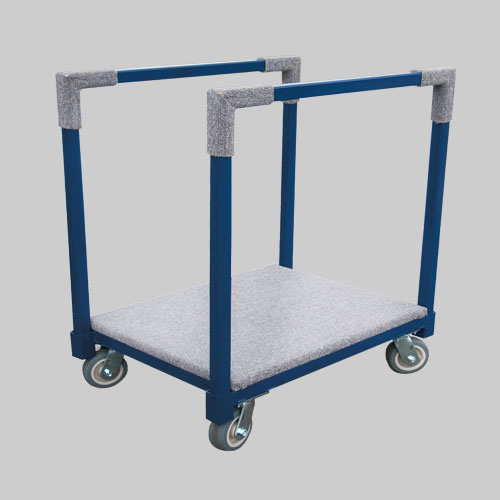 Square Handle Screen Cart